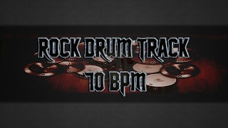 Slow Rock Drum Track 70 BPM (HQ,HD)