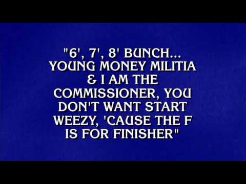 Alex Trebek Quotes Rap Lyrics on Jeopardy (Mix With Music)