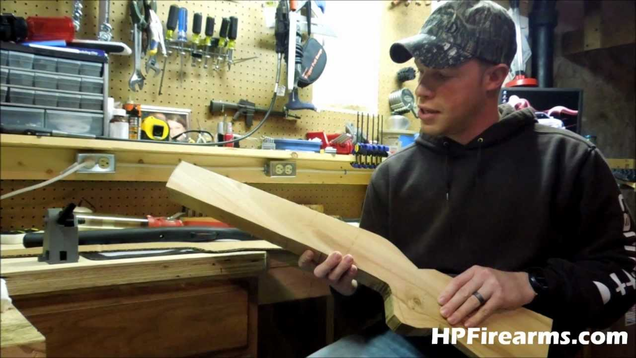 How To Make A Gun Stock Blank By Hpfirearms Youtube