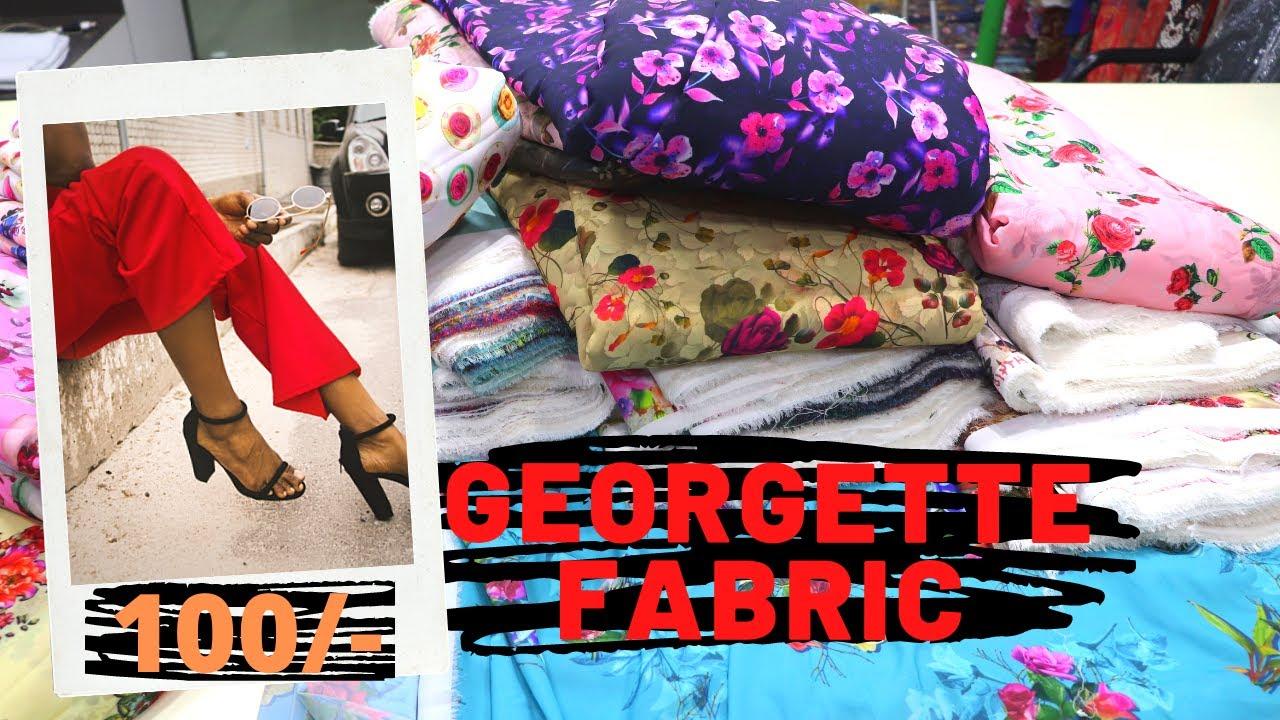 Heavy Georgette Digital Printed Fabric Wholesale |sawal Jawab