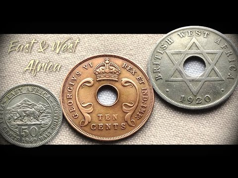 Coin collection | East Africa & West Africa | 3 Coins ( Cents / Shilling ) from 1920