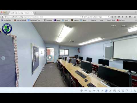 pacific lutheran high school custom made website virtual tour demonstration