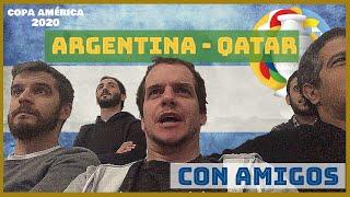 ARGENTINA VS QATAR CON AMIGOS -- VIDEO REACCIÓN.