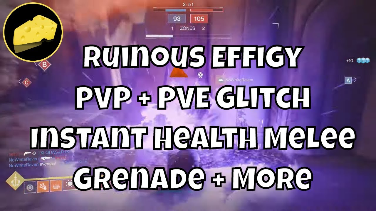 PVP PVE Ruinous Effigy Glitch Instant Health Melee Grenade Rift And Grenade On Hunter Titan