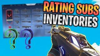 Rating Subscriber VALORANT Inventories! (INSANE SKINS) #1