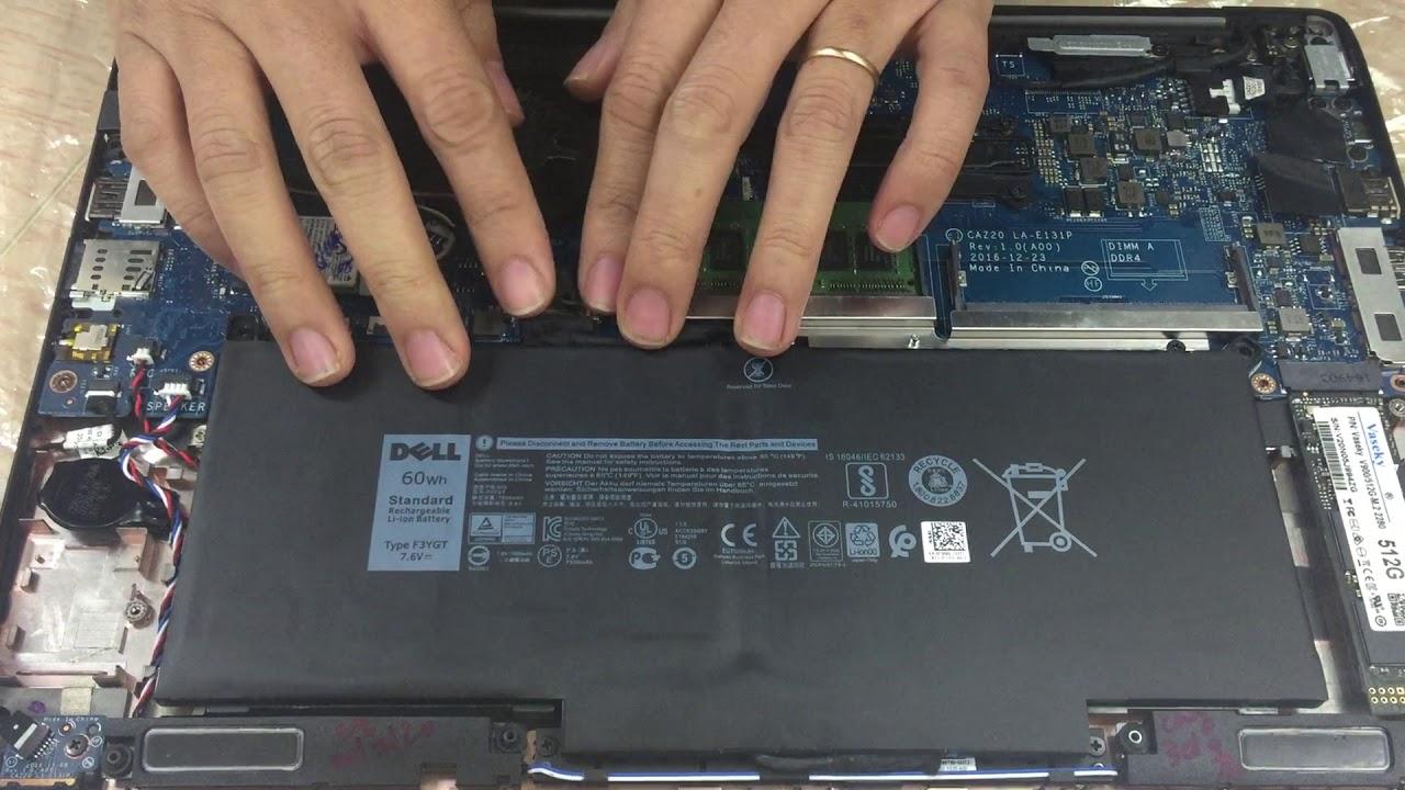 Thay Pin Dell gắn trong laptop quận Tân Phú