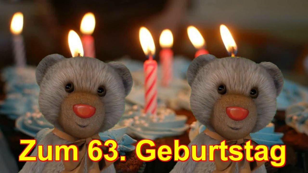 63 Jahre Zum Geburtstag Alles Liebe Gute Happy Birthday
