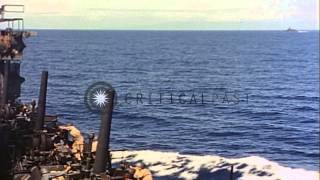 USS Honolulu (CL-48), the USS Helena and St. Louis in the South West Pacific Thea...HD Stock Footage