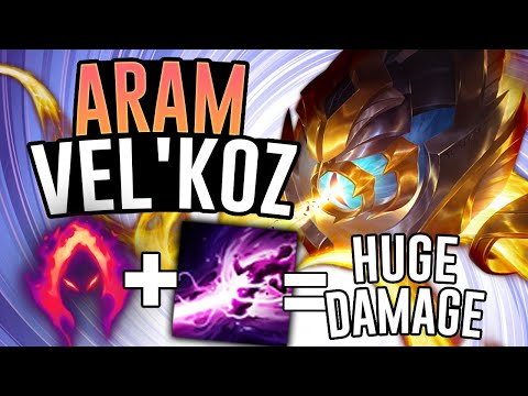VEL'KOZ Does CRAZY DAMAGE So Easily! - Vel'koz ARAM - League Of Legends