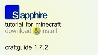 CRAFTGUIDE 1.7.2 minecraft - how to download and install (with forge)