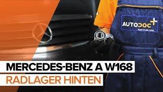 Montage MERCEDES-BENZ A-CLASS (W168) Radlagersatz: kostenloses Video