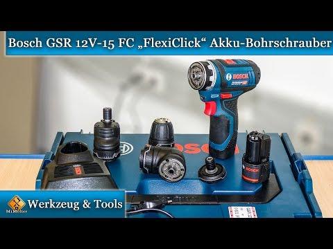 Bekannt Bosch Professional GSR 12V-15 FC FlexiClick Akku-Bohrschrauber US85