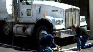 Printing with a Super 16 Dump Truck
