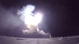Firing Tomahawk Missiles at Syria for 5 minutes