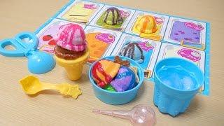 氷水で冷やすと色が変わるアイスのおもちゃ。お湯で温めると元の色に戻...