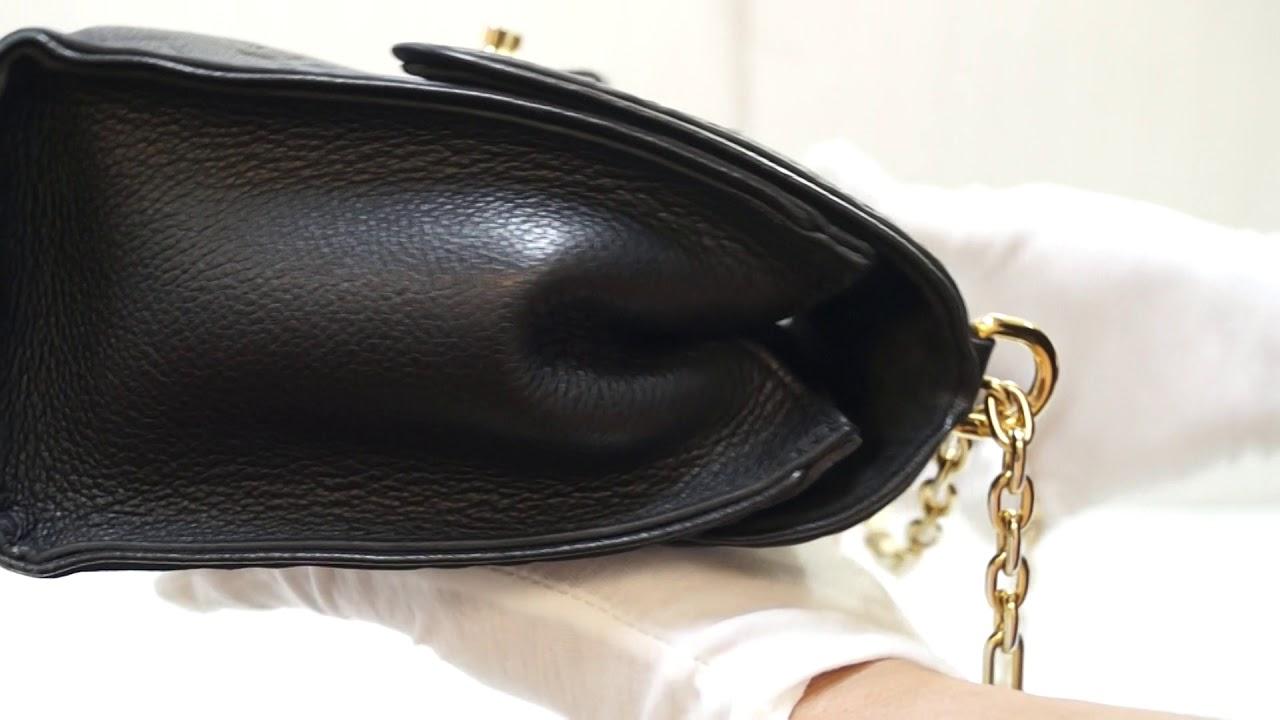 d1a68f1e2635 LOUIS VUITTON Saint Sulpice PM Empreinte Leather Crossbody Bag Noir TT2800