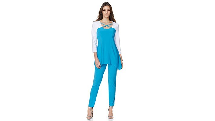 a31011b5016 Slinky Brand Colorblock Tunic and Pant Set - YouTube
