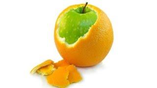 Как апельсин превратить в яблоко???