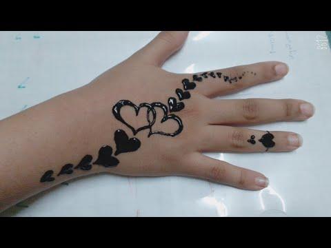 رسمة حنه سهله جدا للمبتدئين Teaching Drawing Henna Youtube