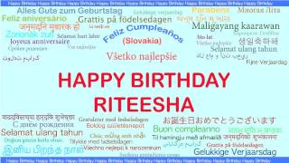 Riteesha   Languages Idiomas - Happy Birthday