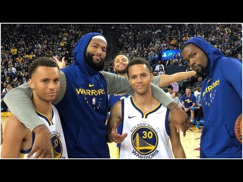 DeMarcus Cousins Finds Stephen Curry's Lost Twins As The Warriors Have Crazy Fun At Practice