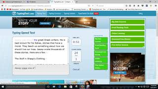 Online typing test in master typing software