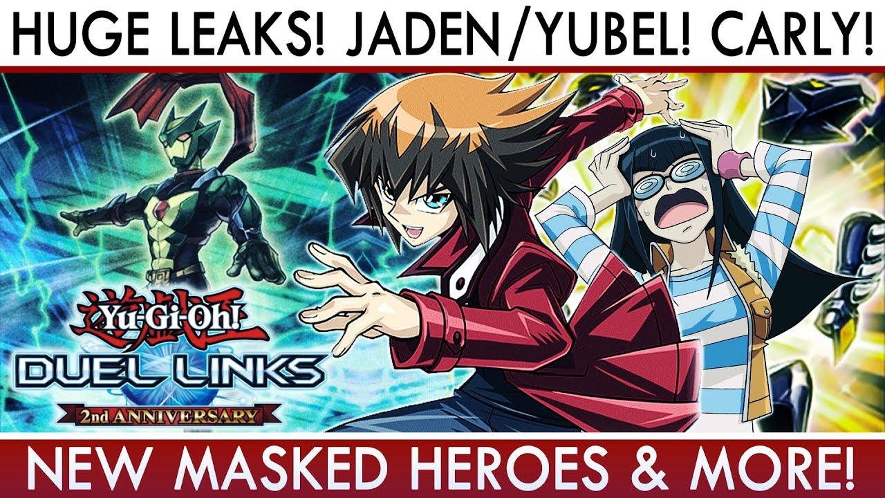 Yu-Gi-Oh! Duel Links | HUGE LEAKS! Jaden/Yubel UNLOCK Cards! New Masked  Heroes! Carly & More!
