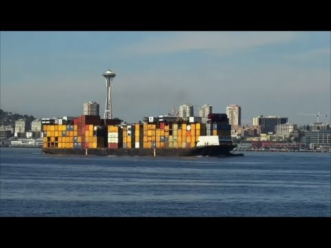 Ship Spotting Seattle: Alaskan Trader floats into port.