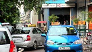 Entry Gate at the Mahur Vihar Extension Metro Station