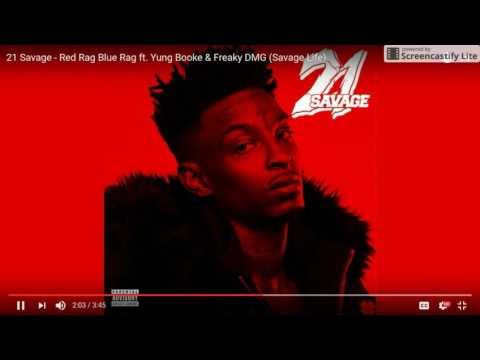 21 Savage - Red Rag Blue Rag ft. Yung Booke & Freaky DMG (BASS BOOSTED)