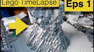 LEGO TIMELAPSE 7 HOURS  [Tall Mountain MOC] Eps.1
