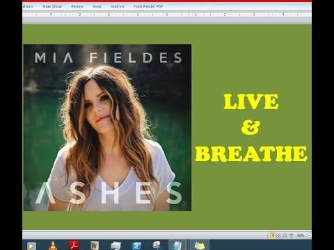 Mia Fieldes - Live & Breathe (Lyrics)