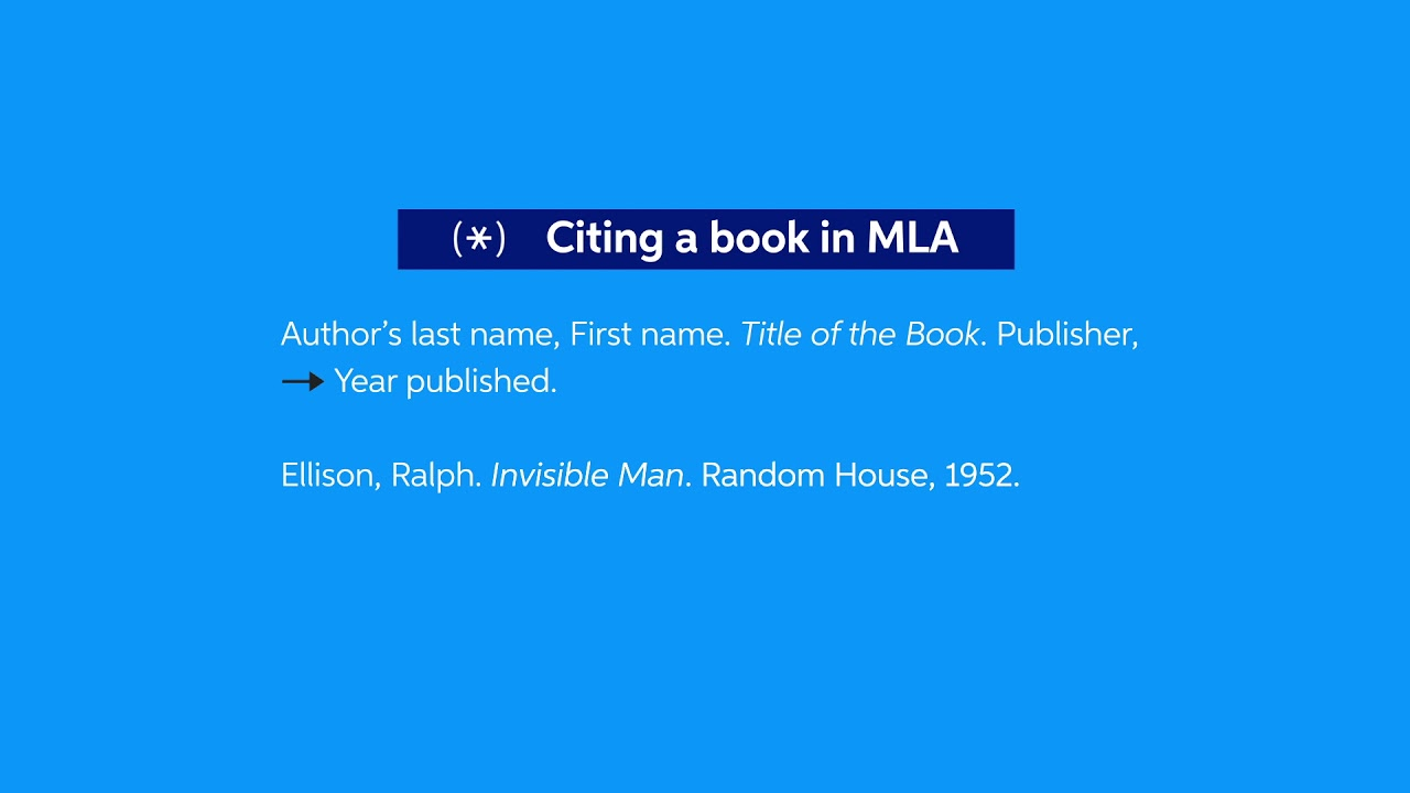 How To Cite A Book In Mla Easybib Citations Kindle 8