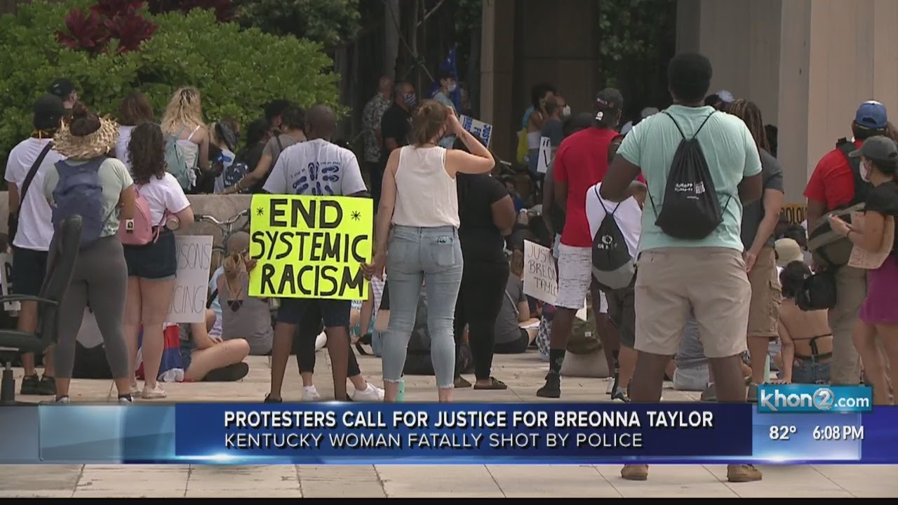Protesters call for justice for Breonna Taylor in Hawaii