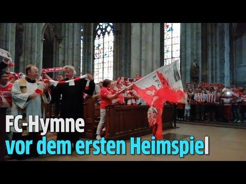 Vor dem ersten Heimspiel: Fans singen 1. FC Köln Hymne im Kölner Dom