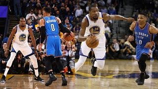 Kevin Durant vs Russell Westbrook 2nd Meeting! Durant Crosses Westbrook! 1-18-2017