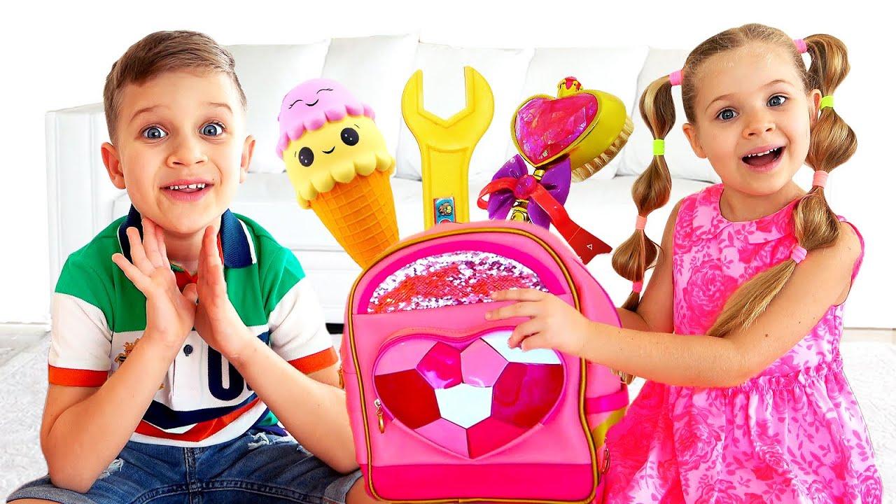 Диана и её Волшебный Рюкзак, в котором есть всё!
