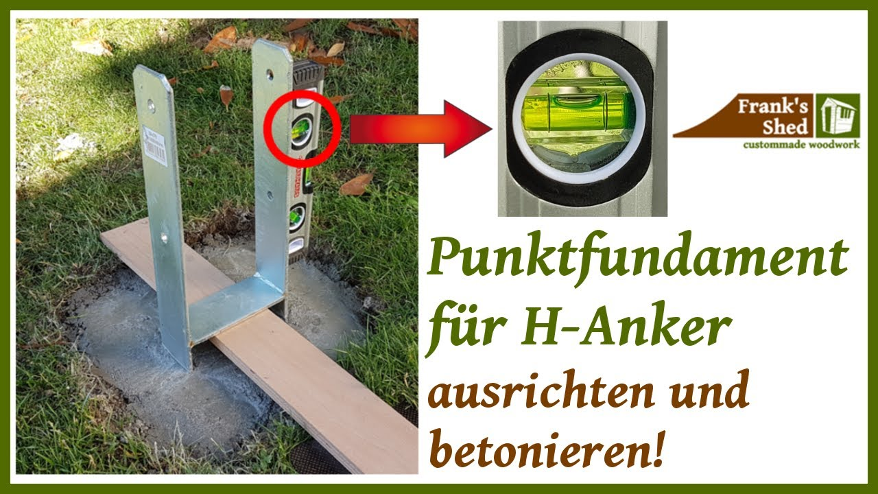Turbo Punktfundamente betonieren | Betonfundament gießen | Fundament LA68