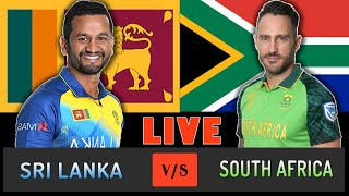 LIVE : SRI LANKA VS SOUTH AFRICA WORLD CUP CRICKET | LIVE SCORE | SRI VS SA