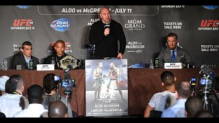 ufc 189 world tour london press conference part 1