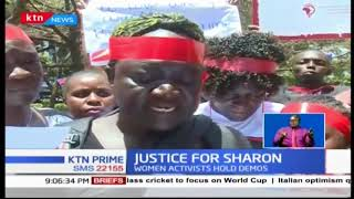Women activists call for confiscation of travel documents of suspects linked to Sharon Otieno
