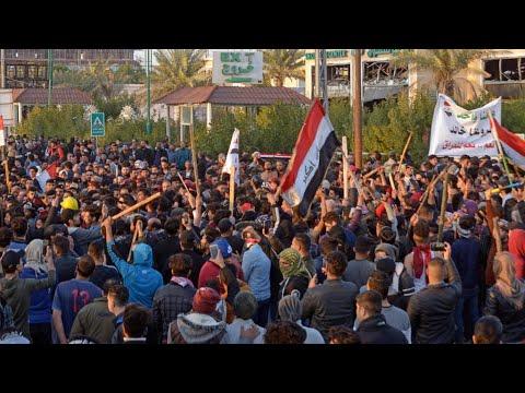 العراق :قتلى وجرحى بعد هجوم أنصار الصدر على متظاهرين في النجف  - 14:01-2020 / 2 / 6