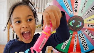 Giant Candy Magic Spin the Wheel Kids Pretend Play | FamousTubeKIDS