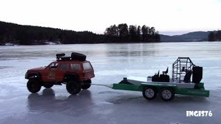Rc Trail Iceroad Cherokee, Trailer & Airboat