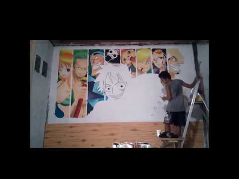 SPEED-WALL PAINTING : MURALES OF ONE PIECE ART by PIRATE'S BURGER