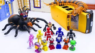 Power Rangers Protect Paw Patrol From Monster Bugs! Kid Playground Is Under Attack by Street Bullies