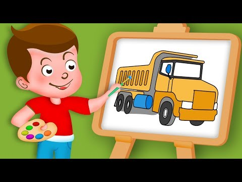 Drawing Transport truck Paint And Colouring For Kids | Kids Drawing TV