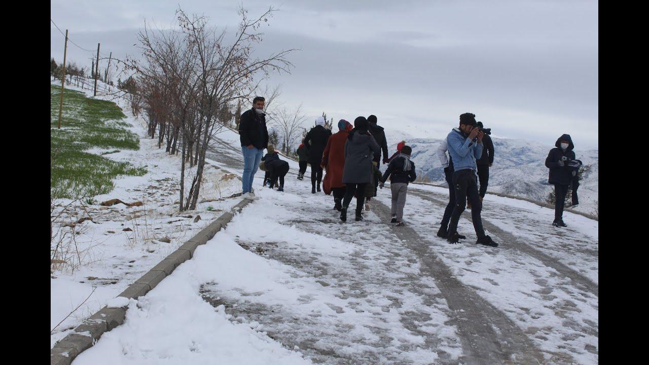 Karakuş Tümülüsü'nde Kahtalıların kar keyfi