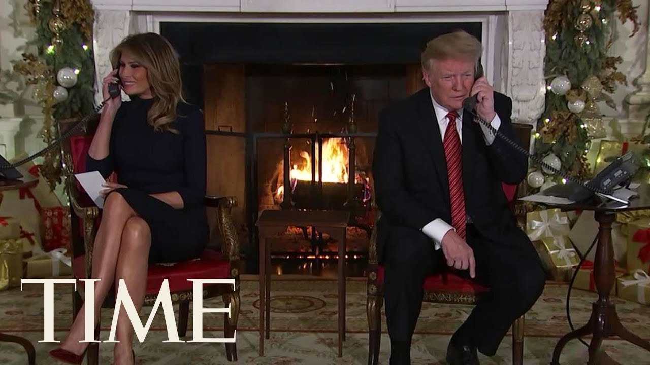 Trump Take Calls From Kids On Christmas Eve: Believing In Santa At 7 Is 'Marginal, Right?' | TIME
