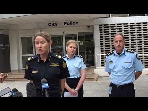Police and Australian Border Force talk about seizure of 356kg of MDMA.
